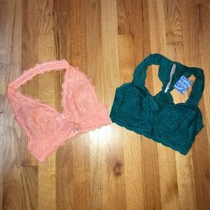 Two Free People NWT Galloon Lace Bralettes Size XS